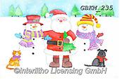 Kate, CHRISTMAS SANTA, SNOWMAN, WEIHNACHTSMÄNNER, SCHNEEMÄNNER, PAPÁ NOEL, MUÑECOS DE NIEVE, paintings+++++Christmas page 91,GBKM235,#x#