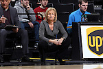 28 January 2016: Florida State head coach Sue Semrau. The Wake Forest University Demon Deacons hosted the Florida State University Seminoles at Lawrence Joel Veterans Memorial Coliseum in Winston-Salem, North Carolina in a 2015-16 NCAA Division I Women's Basketball game. Florida State won the game 96-55.