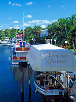 USA, Florida, Key Largo: Original African Queen aus dem Film mit Humphrey Bogart | USA, Florida, Key Largo: Original African Queen from the movie with Humphrey Bogart