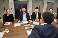 Pictured: Alexis Tsipras (FRONT) meets Labour Party leader Jeremy Corbyn (C) in London, UK. Tuesday 26 June 2018<br /> Re: Greek Prime Minister Alexis Tsipras is on a three day visit to London, UK.