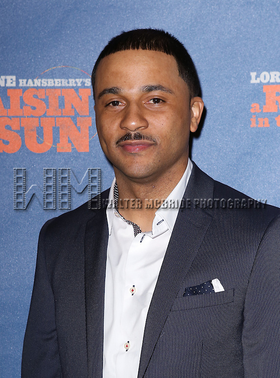 "Jason Dirden attends the Broadway Opening Night After Party for  ""A Raisin In The Sun"" at Tribeca Rooftop on April 3, 2014 in New York City."