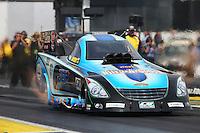 Jun 6, 2015; Englishtown, NJ, USA; NHRA funny car driver Jeff Diehl during qualifying for the Summernationals at Old Bridge Township Raceway Park. Mandatory Credit: Mark J. Rebilas-