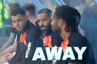 The Blackpool players look on from the bench before kick off<br /> <br /> Photographer David Shipman/CameraSport<br /> <br /> The EFL Sky Bet League One - Scunthorpe United v Blackpool - Friday 19th April 2019 - Glanford Park - Scunthorpe<br /> <br /> World Copyright © 2019 CameraSport. All rights reserved. 43 Linden Ave. Countesthorpe. Leicester. England. LE8 5PG - Tel: +44 (0) 116 277 4147 - admin@camerasport.com - www.camerasport.com