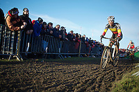 Belgian Champion Sven Nys (BEL)<br /> <br /> 2014 Noordzeecross<br /> Elite Men