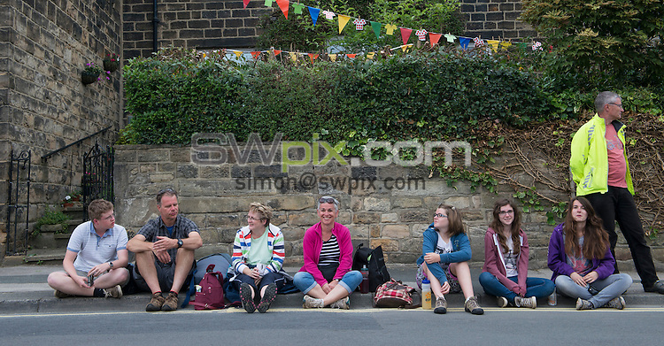 Picture by Allan McKenzie/SWpix.com - 06/07/2014 - Cycling - Tour de France 2014 - Stage 2, York to Sheffield - Yorkshire, England - Addingham residents supporting the tour begin to gather roadside.