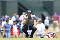Tyrrell Hatton (ENG) on the 13th green during Thursday's Round 1 of the 118th U.S. Open Championship 2018, held at Shinnecock Hills Club, Southampton, New Jersey, USA. 14th June 2018.<br /> Picture: Eoin Clarke | Golffile<br /> <br /> <br /> All photos usage must carry mandatory copyright credit (&copy; Golffile | Eoin Clarke)