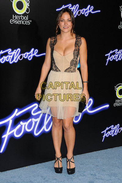 "Briana Evigan.""Footloose"" Los Angeles Premiere held at the Regency Village Theatre, Westwood, California, USA..October 3rd, 2011.full length dress black lace nude cream beige sheer dress sleeveless cleavage .CAP/ADM/BP.©Byron Purvis/AdMedia/Capital Pictures."