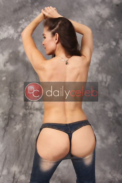 Alicia Arden<br /> models the soon-to-launch XPOZ Jeans - jeans which feature an open-rear - Private Location, Hollywood, CA 05-24-15<br /> David Edwards/DailyCeleb.Com 818-249-4998