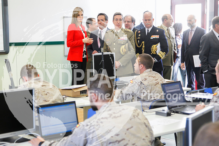 Queen of Spain Letizia Ortiz visits the Artillery Army Academy
