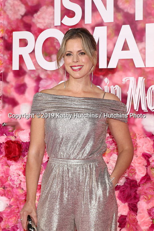 "LOS ANGELES - FEB 11:  Erin Cardillo at the ""Isn't It Romantic"" World Premiere at the Theatre at Ace Hotel on February 11, 2019 in Los Angeles, CA"
