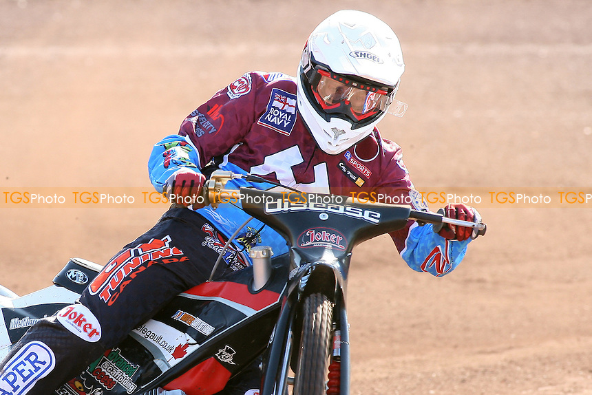 Kyle Legault of Lakeside Hammers in riding action - Lakeside Hammers Speedway Press & Practice Day at Arena Essex Raceway, Purfleet, Essex - 23/03/11 - MANDATORY CREDIT: Gavin Ellis/TGSPHOTO - Self billing applies where appropriate - Tel: 0845 094 6026
