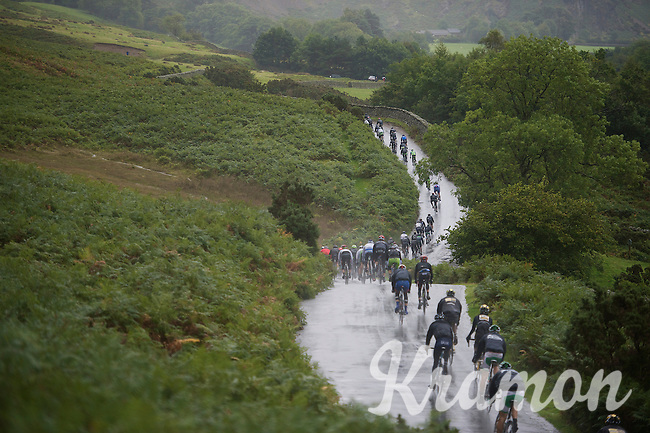 peloton underway in the Cumbrian Mountains<br /> <br /> Tour of Britain<br /> stage 2: Carlisle to Kendal (187km)