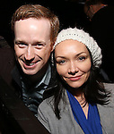 Cody Lassen and Katrina Lenk with Cast of acclaimed Broadway-bound play 'Indecent' meet their Off-Broadway counterparts in 'God of Vengeance' at La Mama on January 10, 2017 in New York City.