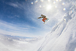 snow boarder on Mammoth Mountain, California
