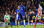 Willian of Chelsea celebrates scoring his goal to make it 4-0 during the premier league match at Stamford Bridge Stadium, London. Picture date 30th December 2017. Picture credit should read: Robin Parker/Sport image