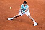 Paris, France. Roland Garros. June 1st 2013.<br /> Serbian player Novak DJOKOVIC against Grigor DIMITROV