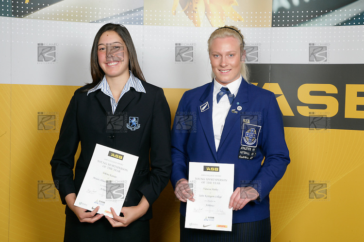 Girls Athletics finalists TeRina Keenan & Vanessa Hurley. ASB College Sport Young Sportperson of the Year Awards 2007 held at Eden Park on November 15th, 2007.