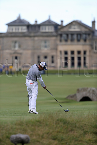 19.07.2015. Old Course, St Andrews, Fife, Scotland. Louis Oosthuizen of South Africa in action on the 18th hole<br /> during the third round of the 144th British Open Championship at the Old Course, St Andrews in Fife, Scotland.