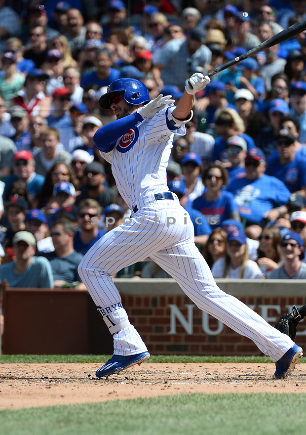 Chicago Cubs Kris Bryant (17) during a game against the Arizona Diamondbacks on June 5, 2016 at Wrigley Field in Chicago, IL. The Diamondbacks beat the Cubs 3-2.