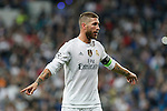 Real Madrid´s Sergio Ramos during Champions League soccer match between Real Madrid and Shakhtar Donetsk at Santiago Bernabeu stadium in Madrid, Spain. Spetember 15, 2015. (ALTERPHOTOS/Victor Blanco)