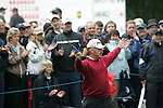 Miguel Angel Jiminez celebrates as a birdie putt finally drops during the final round of the BMW PGA Championship on the 27th of May 2007 at the Wentworth Golf Club, Surrey, England. (Photo by Manus O'Reilly/NEWSFILE)