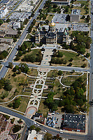 aerial photograph state capitol, Des Moines, Iowa