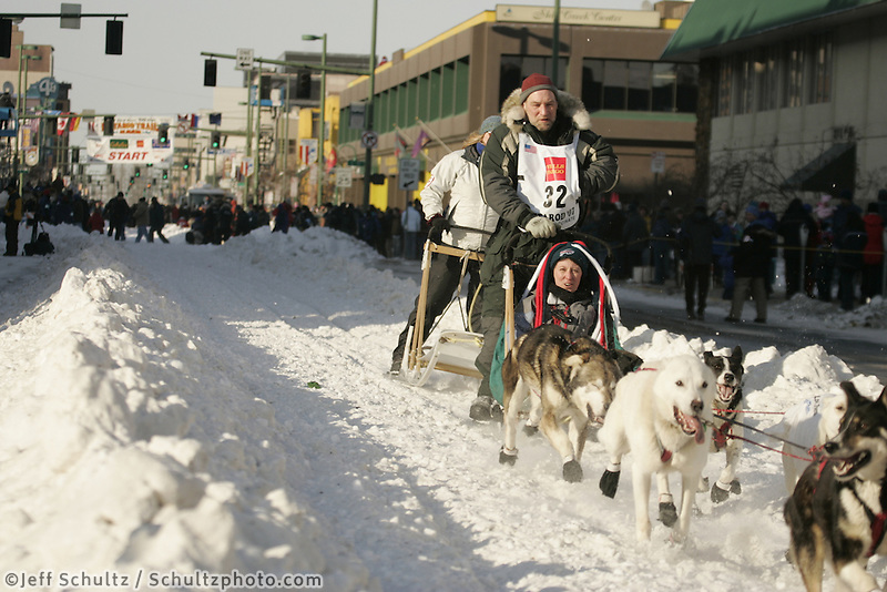 March 3, 2007   Dave Tresino during the Iditarod ceremonial start day in Anchorage