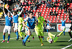 FK Trakai v St Johnstone&hellip;06.07.17&hellip; Europa League 1st Qualifying Round 2nd Leg, Vilnius, Lithuania.<br />Joe Shaughnessy tries to win the ball back after his header hit the upright.<br />Picture by Graeme Hart.<br />Copyright Perthshire Picture Agency<br />Tel: 01738 623350  Mobile: 07990 594431