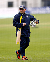 Kent Coach Matthew Walker looks on during day 1 of the four day tour match between Kent CCC and Pakistan at the St Lawrence Ground, Canterbury, on Sat April 28, 2018