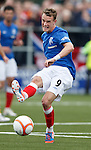 Dean Shiels lays off a pass