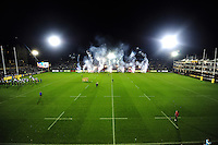 A general view of the Recreation Ground pitch prior to the match. Aviva Premiership match, between Bath Rugby and Bristol Rugby on November 18, 2016 at the Recreation Ground in Bath, England. Photo by: Patrick Khachfe / Onside Images
