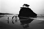 Japanese mythology says that gods descend on this beach, Inasanohama. Izumo, Shimane.