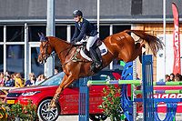 AUS-Samantha Birch rides Finduss PFB during the Showjumping for the CCIO4*-L FEI Nations Cup Eventing. 2019 Military Boekelo-Enschede International Horse Trials. Sunday 13 October. Copyright Photo: Libby Law Photography