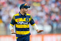 Glamorgan's David Miller calls for calm<br /> <br /> Photographer Andrew Kearns/CameraSport<br /> <br /> NatWest T20 Blast Semi-Final - Birmingham Bears v Glamorgan - Saturday 2nd September 2017 - Edgbaston, Birmingham<br /> <br /> World Copyright &copy; 2017 CameraSport. All rights reserved. 43 Linden Ave. Countesthorpe. Leicester. England. LE8 5PG - Tel: +44 (0) 116 277 4147 - admin@camerasport.com - www.camerasport.com