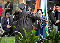 Families, friends, faculty, staff and distinguished guests celebrate the class of 2018 during Occidental College's 136th Commencement ceremony on Sunday, May 20, 2018 in the Remsen Bird Hillside Theater.<br /> (Photo by Marc Campos, Occidental College Photographer)