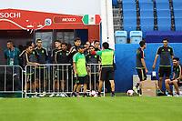 Mannschaft von Mexiko kommt zum Training - 20.06.2017: Abschlusstraining der Nationalmannschaft Mexiko, Fisht Stadium Sotschi