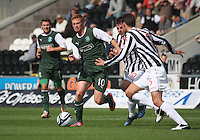 Eoin Doyle in the St Mirren v Hibernian Clydesdale Bank Scottish Premier League match played at St Mirren Park, Paisley on 18.8.12.