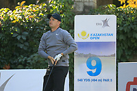 Tom Lewis (ENG) in action during the second round of the Kazakhstan Open presented by ERG played at Zhailjau Golf Resort, Almaty, Kazakhstan. 14/09/2018<br /> Picture: Golffile | Phil Inglis<br /> <br /> All photo usage must carry mandatory copyright credit (© Golffile | Phil Inglis)