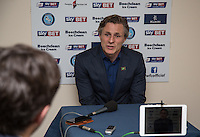 Wycombe Wanderers Manager Gareth Ainsworth during the post match interview during the Sky Bet League 2 match between Wycombe Wanderers and Stevenage at Adams Park, High Wycombe, England on 12 March 2016. Photo by Andy Rowland/PRiME Media Images.