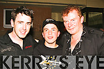 .ENTERTAIN: Mickey Harte, Rory and Francie Conway who enterained the large crowd tyhet attended the free concert in the Brandon Hotel, Tralee on Wednesday night.....