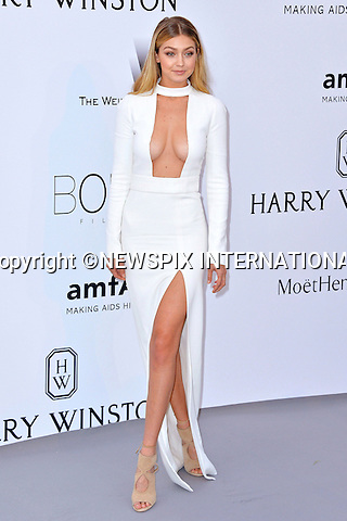 12.05.2015, Antibes; France: GIGI HADID<br /> attends the Cinema Against AIDS amfAR gala 2015 held at the Hotel du Cap, Eden Roc in Cap d'Antibes.<br /> MANDATORY PHOTO CREDIT: &copy;Thibault Daliphard/NEWSPIX INTERNATIONAL<br /> <br /> (Failure to credit will incur a surcharge of 100% of reproduction fees)<br /> <br /> **ALL FEES PAYABLE TO: &quot;NEWSPIX  INTERNATIONAL&quot;**<br /> <br /> Newspix International, 31 Chinnery Hill, Bishop's Stortford, ENGLAND CM23 3PS<br /> Tel:+441279 324672<br /> Fax: +441279656877<br /> Mobile:  07775681153<br /> e-mail: info@newspixinternational.co.uk