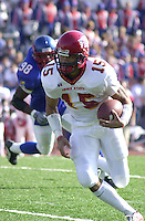 Cyclones quarterback Seneca Wallace in the second quarter against the Kansas Jayhawks in Lawrence, Kansas on November 17, 2001.  Iowa State won 49-7.