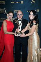 LOS ANGELES - May 1: Cafe CNN, Mari?a Alejandra Requena, Eduardo Suarez, Alejandra Oraa at The 43rd Daytime Emmy Awards Gala at the Westin Bonaventure Hotel on May 1, 2016 in Los Angeles, California