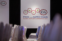 Suppliers attend the C&A Global Supplier Conference at the Kowloon Shangri-La Hotel on September 25, 2014 in Hong Kong, China. Photo by Jerome Favre / studioEAST