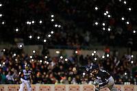Marco Carrillo pitcher relvo de Yaquis ,durante primer juego de la serie de beisbol entre Yaquis de Obregon vs Naranjeros de Hermosillo en Estadio Sonora.Liga Mexicana del Pacifico.<br /> Hermosillo Sonora 27 diciembre 2014. <br /> (CreditoFoto:Luis Gutierrez)