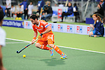 The Hague, Netherlands, June 03: Robert van der Horst #24 of The Netherlands dribbles the ball during the field hockey group match (Men - Group B) between The Netherlands and Korea on June 3, 2014 during the World Cup 2014 at Kyocera Stadium in The Hague, Netherlands. Final score 2:1 (1:1) (Photo by Dirk Markgraf / www.265-images.com) *** Local caption ***
