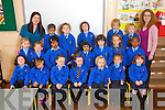 Ms. Ciara Christie and her class of Junior Infants in Presentation Primary, Tralee on Tuesday.Front row l-r: Katie Dowling, Sinead Libutlibut, Leanna Paige O'Brien, Lauren Hegarty, Julia Lelito, Wiktoria Malachowska, Rachel Prenderville.Middle row l-r: Shannon Martin, Ella O'Donoghue, Sulagna Biswas, Ann Aji Thayyil, Tanya Egan, Lily Collins, Rex Munyoro.Back row l-r: Ms Ciara Christie, Pronnima Pal Prety, Aoife Delaney, Martina McDonagh, Cassandra Knightly, Grainne Breen and Breda O'Leary