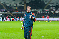 Gerhard Tremmel of Swansea warms up prior to the Barclays Premier League match between Swansea City and Sunderland played at the Liberty Stadium, Swansea  on  January the 13th 2016