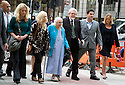 Rolf Harris arrives at Westminster  Magistrates Court today 23.9.13<br /> where he was appearing on historic child sex charges.<br /> <br /> He arrives surrounded by an entourage family and friends<br /> and arm in arm with his wife Alwen Harris (Hughes)<br /> <br /> <br /> <br /> <br /> Pic by Gavin Rodgers/Pixel 8000 Ltd