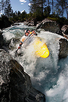 RAMAZZA Michele (Italy). Kayak downhill race in the Brandseth river. The Extremesport Week, Ekstremsportveko, is the worlds largest gathering of adrenalin junkies. In the small town of Voss enthusiasts in a varitety of extreme sports come togheter every summer to compete and play. Norway.  ©Fredrik Naumann/Felix Features.